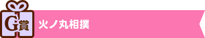 G賞:火ノ丸相撲