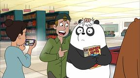 パンダのかわいいクシャミ